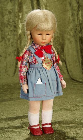"""18"""" German character girl in blonde braids by Kathe Kruse. $300/400"""