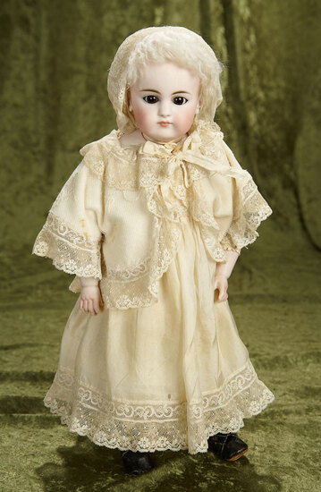 """17"""" Rare German bisque closed mouth doll, model 905, by Simon and Halbig. $500/750"""