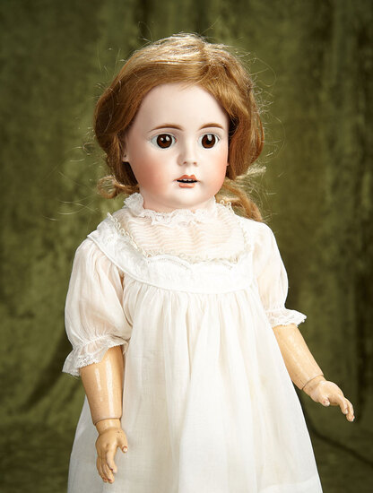 """22"""" German bisque doll, model 225, by Bahr and Proschild, original body and body finish. $400/500"""