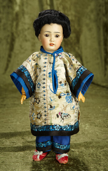 """13"""" German bisque Asian child, model 1329, by Simon and Halbig. $900/1300"""