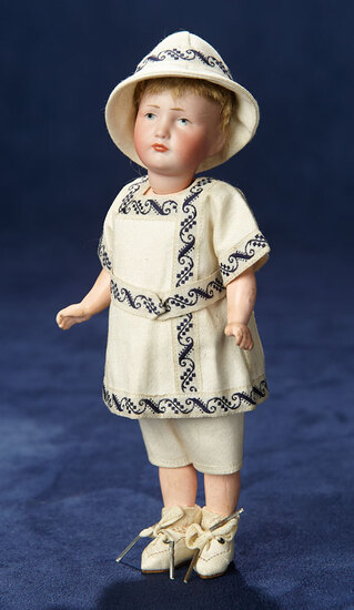 "Petite German Bisque Art Character ""Hans"" by Kammer and Reinhardt 700/900"