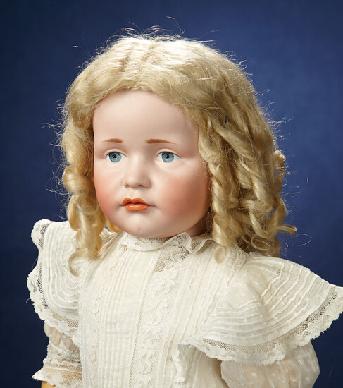 "German Bisque Art Character ""Gretchen"", Model 114, in Rare Large Size  3500/4500"