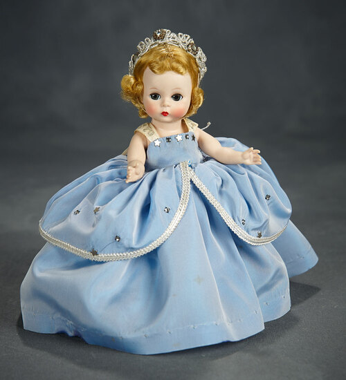 "Tosca-Haired Alexander-Kins as ""Cinderella"" with Rhinestone Crown 500/700"