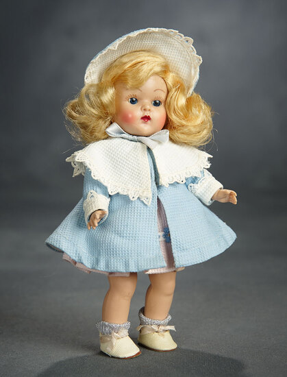 Blonde Painted-Lash Ginny in Blue Coat and Bonnet by Vogue 200/400