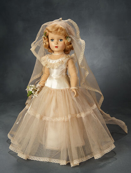 Margaret Bride in Ivory and Rose Tulle and Satin Gown by Alexander 800/1100