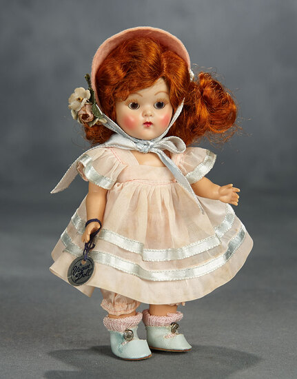 "Red-Haired Painted-Lash Ginny ""Glad"" from Tiny Miss Series by Vogue 400/500"
