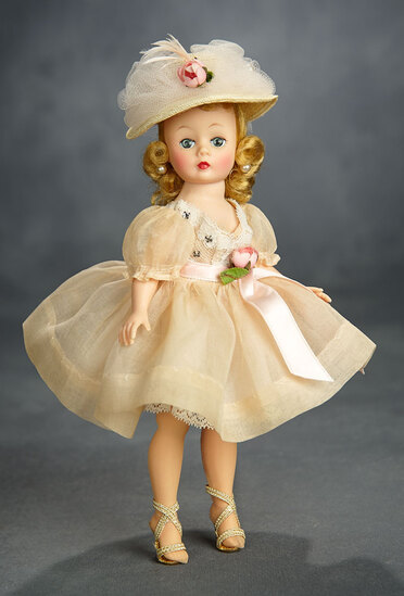 Blonde Cissette in Organdy Dress with Matching Grand Bonnet 400/500