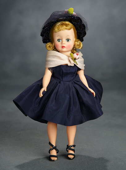 Tosca-Haired Cissette in Navy Blue Taffeta Ensemble by Alexander 400/500