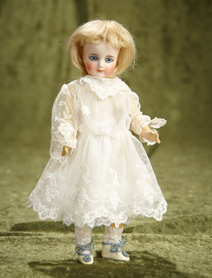 "8"" Beautiful Sonneberg Bisque closed mouth doll by mystery maker. $600/800"