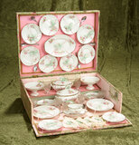 Doll's Porcelain Dinner Service for the French market, in original 14
