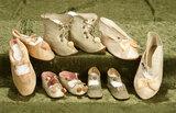 Five German kidskin or sateen shoes for child dolls, 3