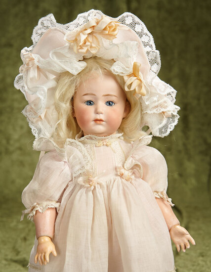 """15"""" Rare model German bisque glass-eyed pouty model 8420, by Gebruder Heubach. $900/1200"""