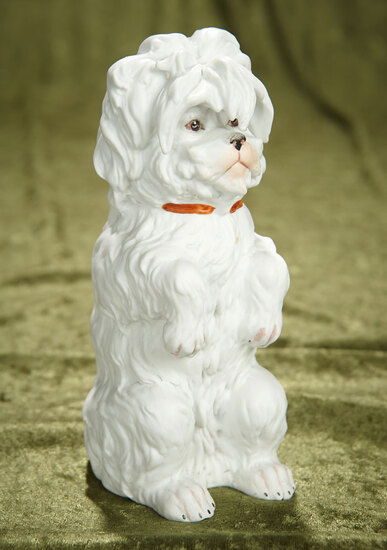 """7"""" German all-bisque """"Pup Begging for a Treat"""" by Gebruder Heubach. $400/500"""