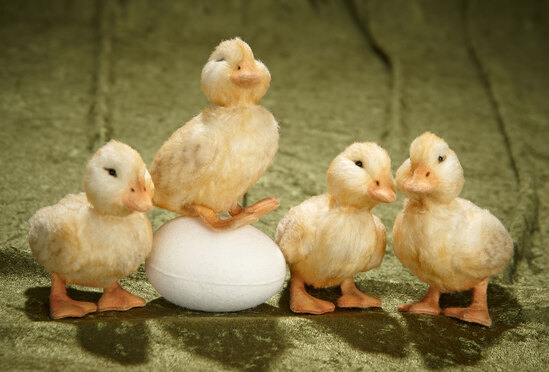 """""""Jemima's Ducklings"""" by R. John Wright, Beatrix Potter Collection, mint in box, each 5"""". $600/800"""