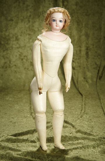 """18"""" French bisque poupee by Jumeau with original signed body. $2100/2600"""