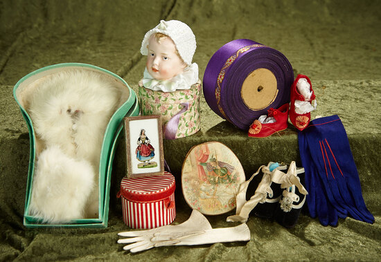 Lot of various accessories for French bebes or large poupees. $400/500