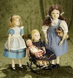 Quartet of artistic dolls from noted early NIADA artist Muriel Bruyere, 5