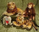 Four German mohair jungle animals by Steiff, 1950s era. $500/750
