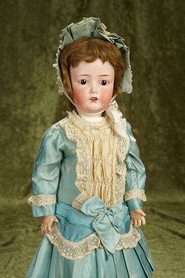"21"" German bisque child by Cuno and Otto Dressel resembling K*R 117n. $700/900"