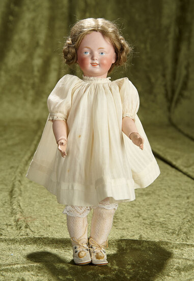 "12"" Petite German Bisque Art Character with Painted Eyes, Model 185, by Kestner. $900/1100"