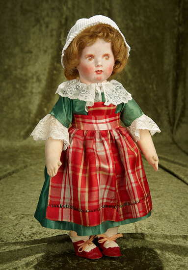 "17"" Rare French cloth character doll by La Francia. $600/800"