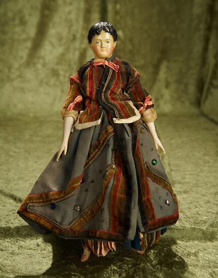 "12"" German paper mache doll as ""Poupee a Bonne Aventure"" for the French market. $700/900"