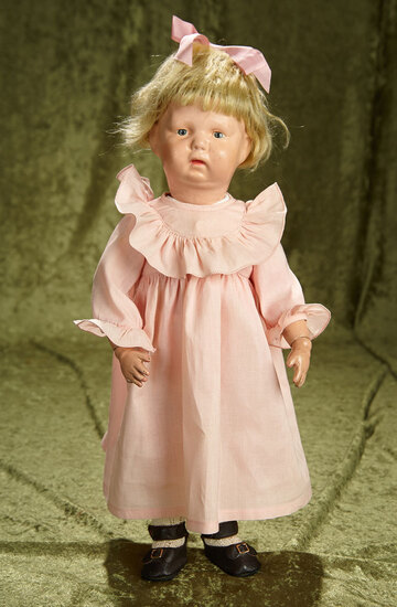 """17"""" American carved wooden toddler by Schoenhut. $300/400"""