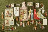 Wonderful group of children's books, paper dolls, miniature harmonica. $300/400