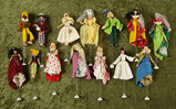 Collection of 14 German cloth puppets by BAPS with an original BAPS box. $400/500