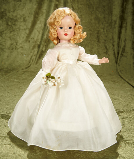 "15"" Blonde Bride in Wedding Gown by Alexander. $500/700"