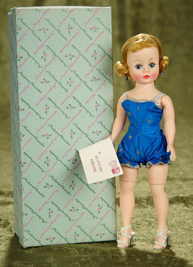 "10"" Blonde Cissette in Blue Swimsuit, Original Box. $400/500"