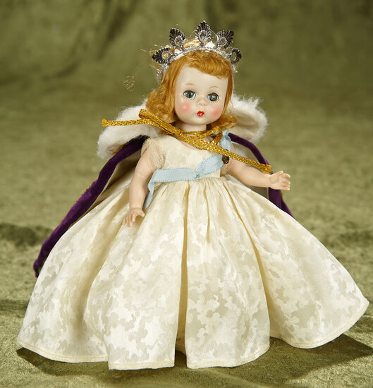 "8"" Wendy-Kins in Coronation costume by Alexander. $400/500"