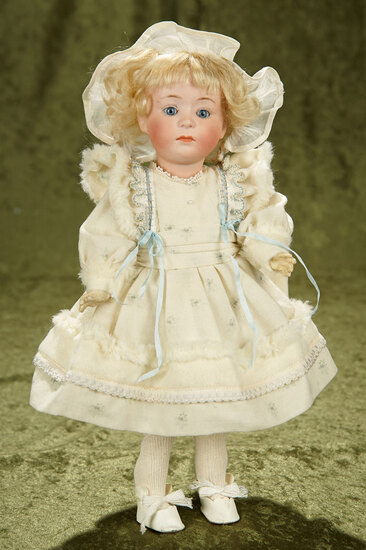 """13"""" German bisque pouting character, 7246, by Gebruder Heubach. $600/800"""