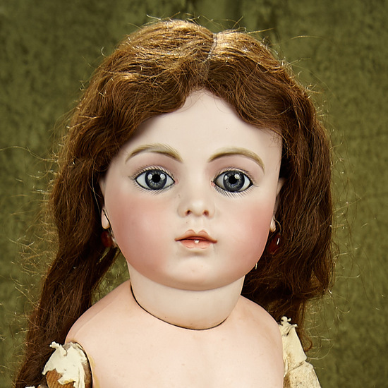 """30"""" Superb French bisque bebe by Leon Casimir Bru, size 12, from golden era SEE NOTE. $16,000/19,000"""