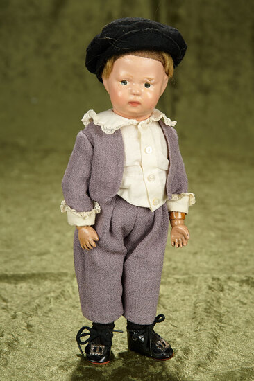 """11"""" American wooden toddler by Schoenhut in rare small size. $400/500"""