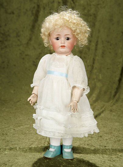 "15"" German bisque character, model 260, by Kestner in antique costume. $300/400"