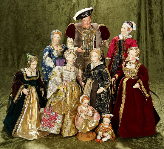 Outstanding collection of King Henry VIII, six wives and children by Kathy Redmond. $1400/1700
