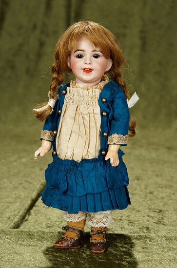 """11"""" French bisque character in petite size, model 236, by SFBJ. $600/800"""