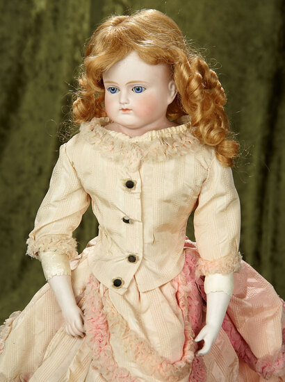 "19"" German bisque closed mouth doll by Kestner. $400/500"