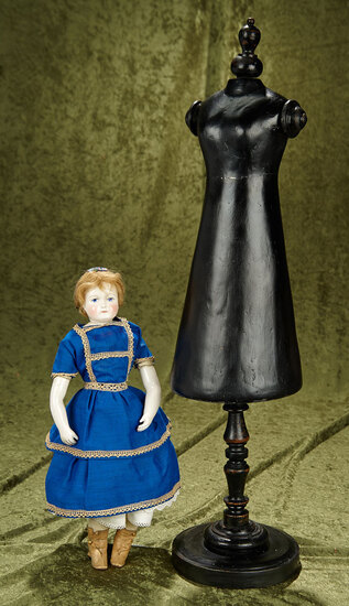 "28"" Ebony wood mannequin form for 1830s era costumes. $400/500"