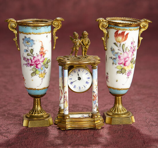 Very Fine Viennese Porcelain and Bronze Miniatures 900/1200