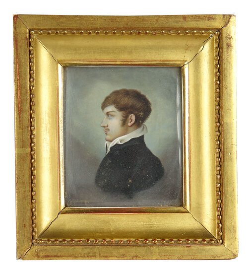 Early Miniature Oil Portrait in Profile 500/700