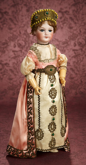 French Bisque Bebe in Original Historical Costume, Possibly Margaine-Lacroix 800/1200