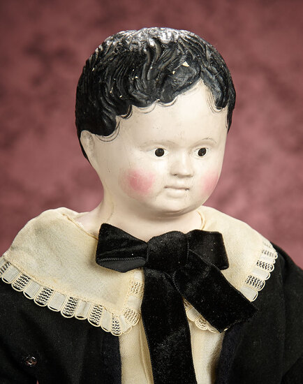 German Brown-Eyed Paper Mache Boy 400/600