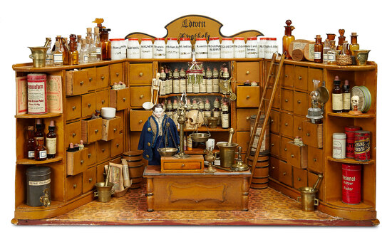 Outstanding Early Apothecary Shop with Original Contents 3500/4500
