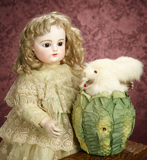 "French Mechanical ""Bunny in the Cabbage"" by Roullet et Decamps 2500/3500"