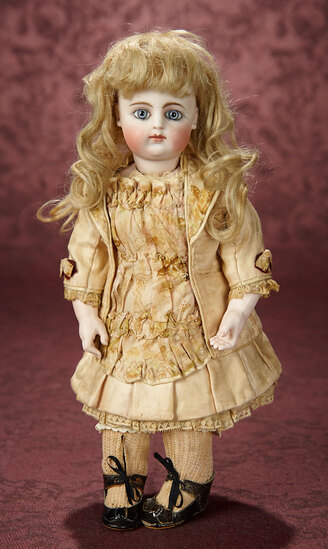 Beautiful French Bisque Bebe by Gaultier with Early Block Letter Markings 4500/5500
