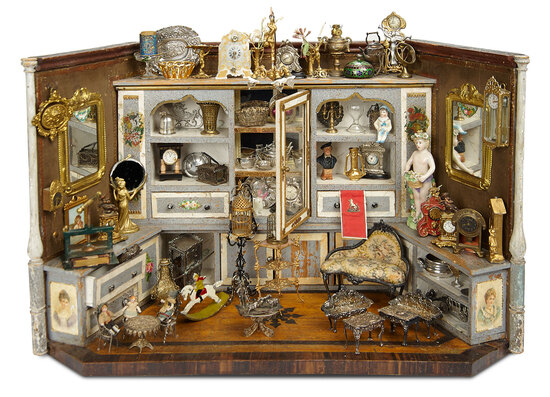 Outstanding Miniature 19th Century Boutique of Decorative Objects and Silver 3500/4500