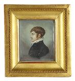Early Miniature Oil Portrait in Profile 500/700