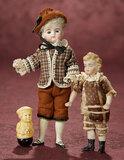 Two German Bisque Miniature Dolls 400/500